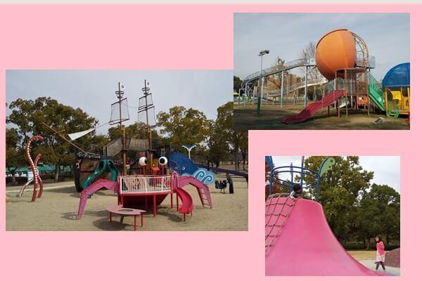 万博公園の色々な遊具