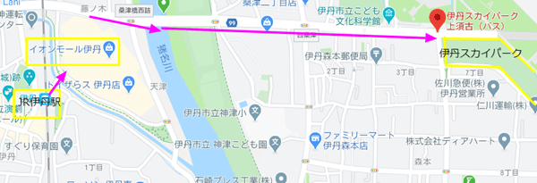 スカイパーク JR伊丹 徒歩