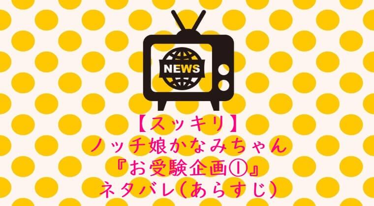 【スッキリ】ノッチ娘かなみちゃんの『お受験企画1』ネタバレ(あらすじ)
