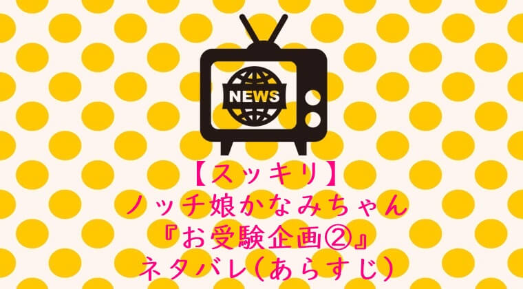 【スッキリ】ノッチ娘かなみちゃんの『お受験企画2』ネタバレ(あらすじ)