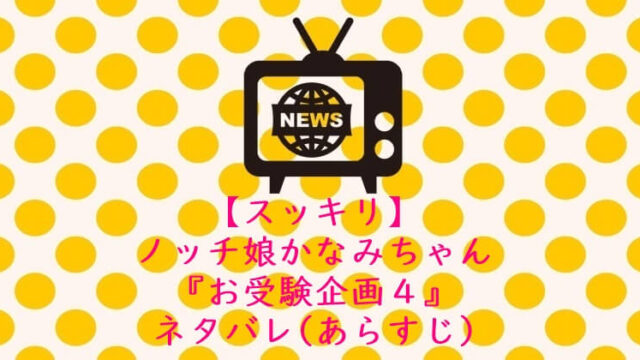 すっきり かなみちゃん お受験企画 ネタバレ あらすじ4