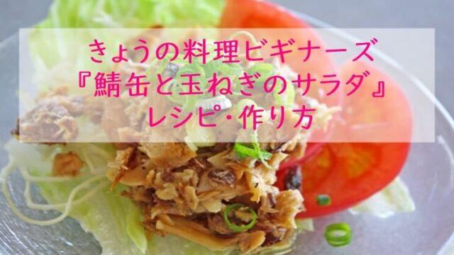 きょうの料理ビギナーズ『鯖缶と玉ねぎのサラダ』レシピ・作り方 NHK Eテレ