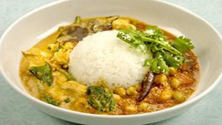おしゃべりクッキング『元気もりもりスパイシーカレー(豆&鶏肉カレー)2種盛り』レシピ
