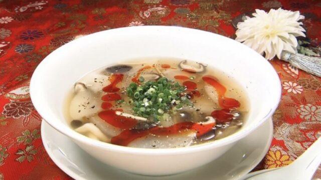 青空レストラン「梨の中華風スープ サンラータン」レシピ